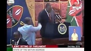 Uhuru FORGIVES Babu Owino While in Parliament. He OPENLYS Shakes Hands with Babu Owino.