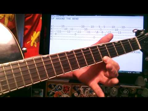 Guitar lessons online Creedence clearwater revival Up around the bend tab