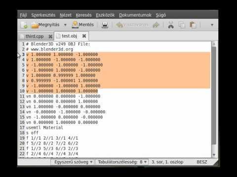 OpenGL (SDL,C++) tutorial 8 - Simple wavefront (.obj) model loader (part 1)