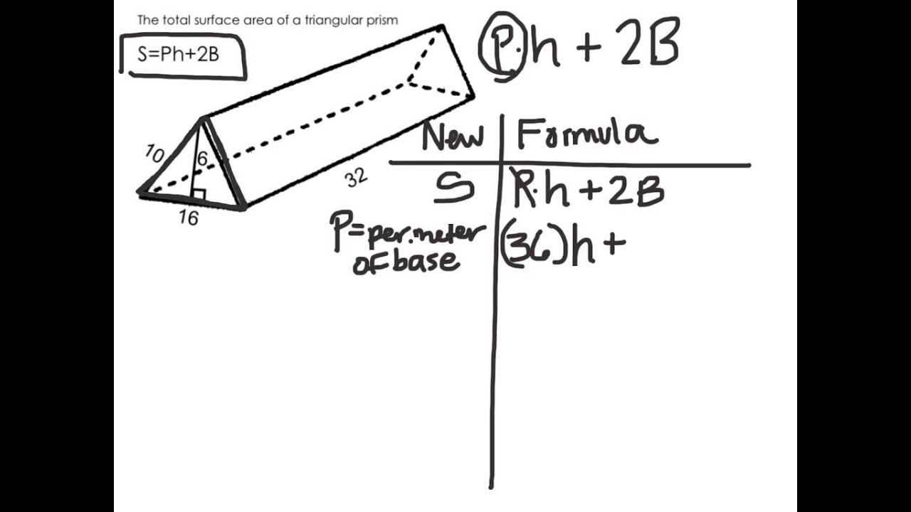 Total Surface Area Of Triangular Prism