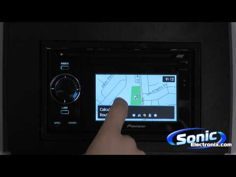 Pioneer AVIC-U310BT In-Dash Navigation With Portable GPS
