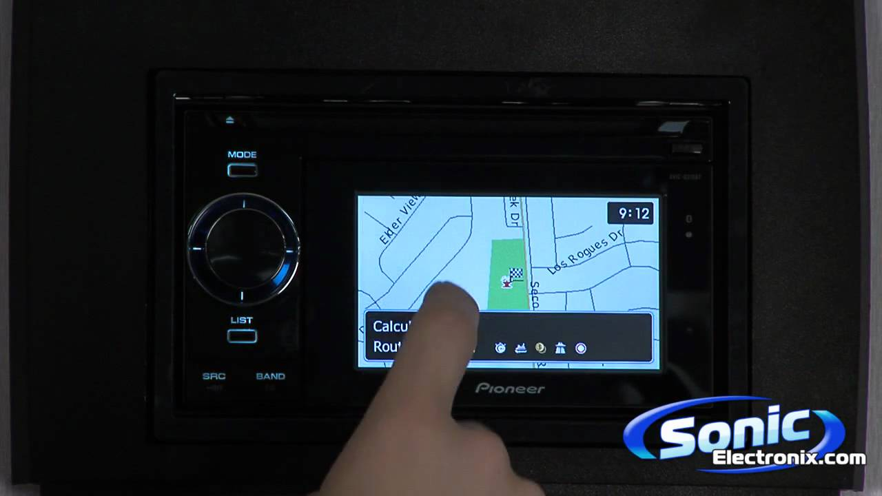 Pioneer AVIC-U310BT In-Dash Navigation with Portable GPS - YouTube