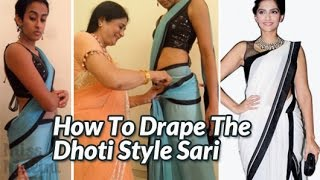 How To Drape The Dhoti Style Sari