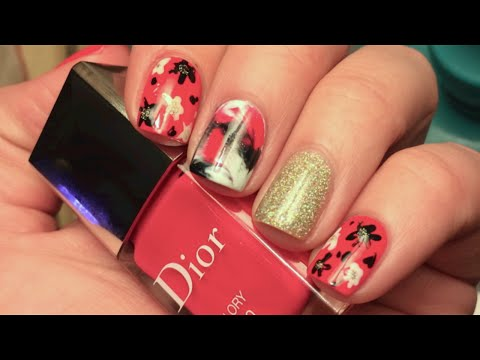 Easy Nail Art-Plastic Bag Mani/Abstract Flowers!