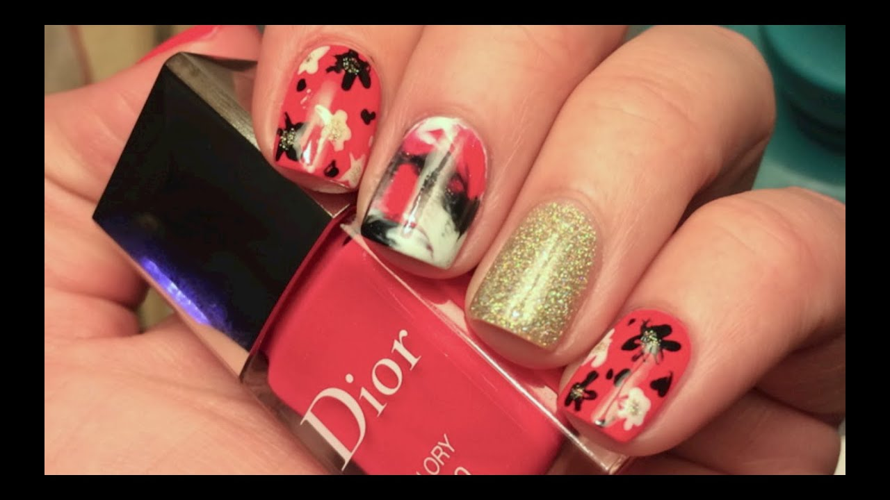 Easy Nail Art Plastic Bag Maniabstract Flowers Youtube