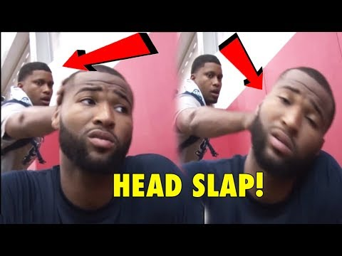 Only Rudy Gay Can SLAP DeMarcus Cousins' Head, And Get Away With It!