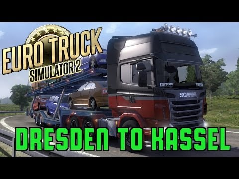 Euro Truck Simulator 2 - Dresden To Kassel with Pedal Cam - Scania R560 V8