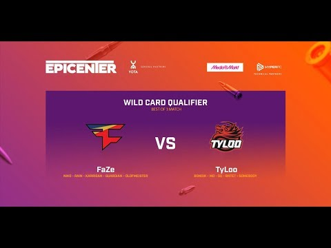 FaZe vs TyLoo - map2: de_cache - Epicenter 2017 Wild Card Qu