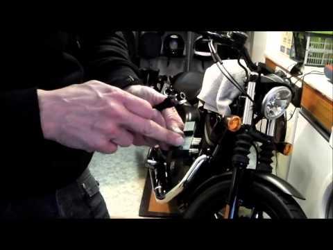 Delboy\u0027s Garage, Harley Sportster, Brake Lever change - YouTube