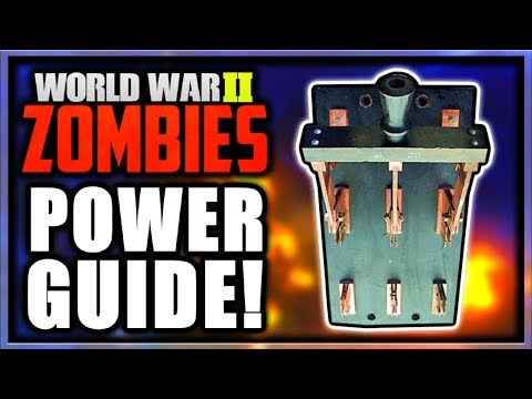 """THE FINAL REICH"" HOW TO TURN ON POWER GUIDE! POWER LOCATION TUTORIAL! (Call of Duty WW2 Zombies)"