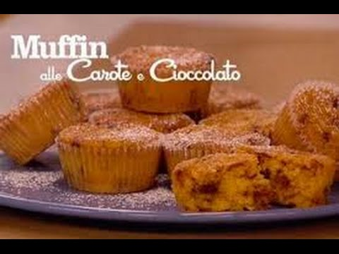 Ricetta veloce muffin di carota e cioccolato,Quick recipe carrot muffins and chocolate,