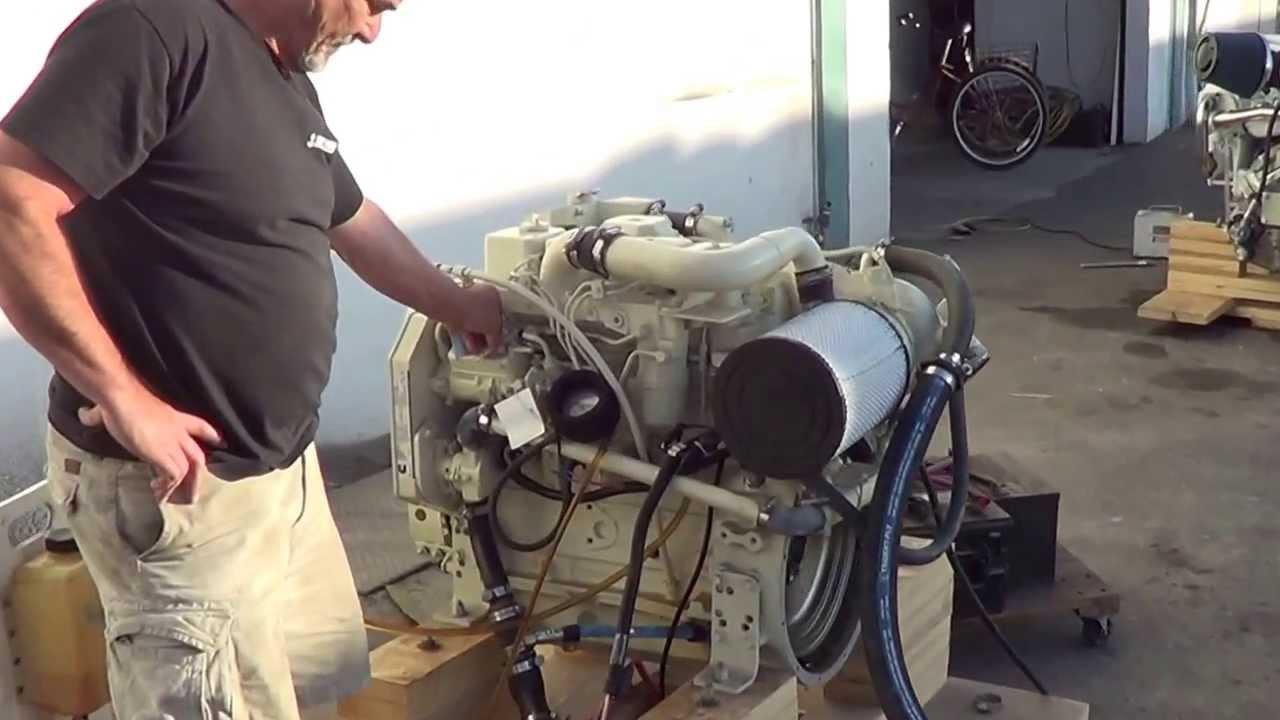 First engine start of a Cummins 4BT 155 HP    great little engine!