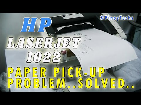 PAPER FEED Problem... SOLVED | HP Laserjet 1022 Printer | PinoyTechs