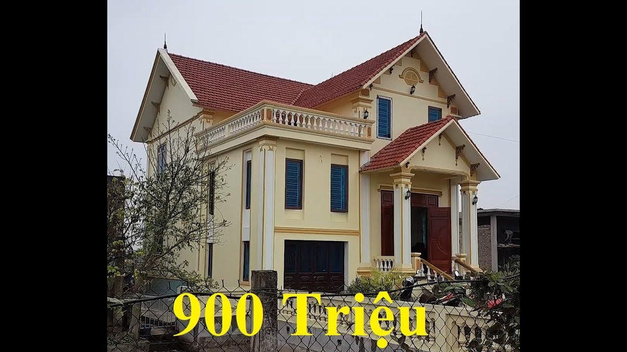 Thăm Quan Mẫu nhà BIỆT THỰ 2 tầng mái thái ĐẸP NHƯ MƠ – Chỉ có 900 triệu