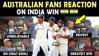 Australian Fans REACTION on INDIA WIN 🇮🇳 ❤️ | Must Watch this Video | Respect