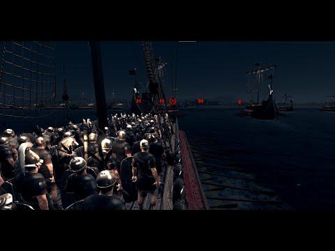 Attila Total War: Roman Navy vs. 10.000 Barbarians [1080p]