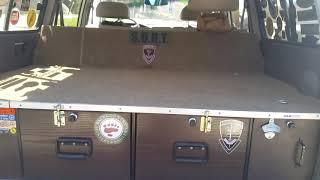 Storage drawers/ sleeping platform