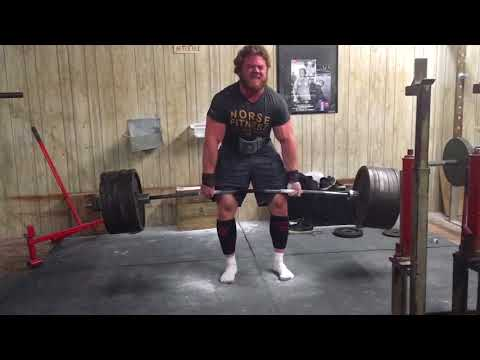 ANDREW HAUSE- deadlift workout, 702 x 5 PR 20 yrs old