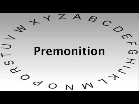 SAT Vocabulary Words and Definitions — Premonition - YouTube