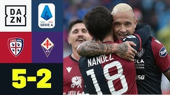 Nainggolan-Kracher bei Torfestival: Cagliari - Florenz 5:2 | Serie A | DAZN Highlights