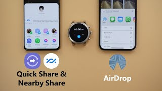 Airdrop vs Quick Share vs Nearby Share Speed Test - Which One is Faster? (S21 Ultra vs 12 Pro Max)