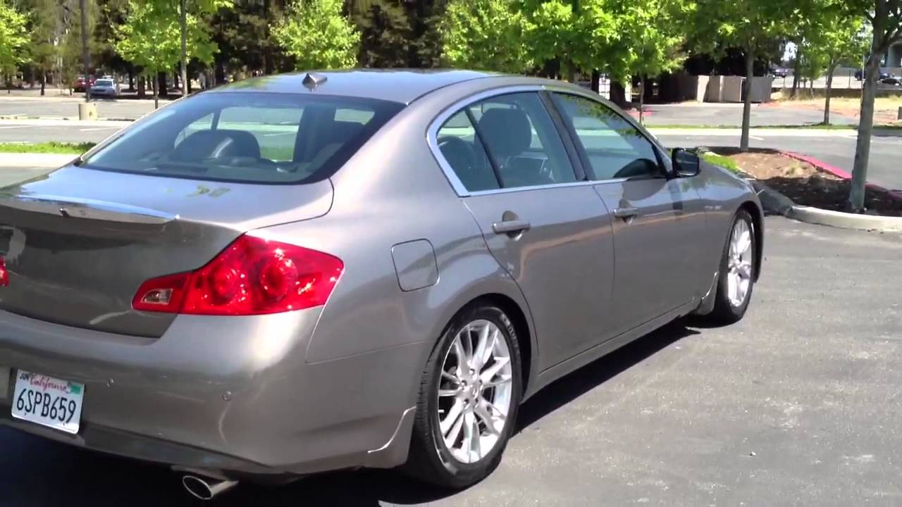 2011 Infiniti G37 sedan lowered - YouTube
