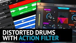Distorted Drums with Action Filter Plugin