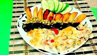 Филе рыбы в духовке по-гречески. Рецепт. Легко и просто.