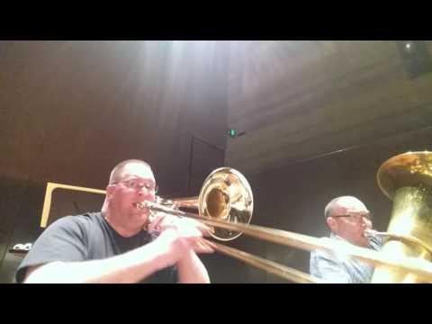 Respighi, Fountains of Rome, 3rd movement, bass trombone & tuba