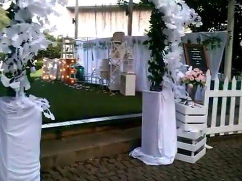 Dekorasi Wedding Outdoor On Green Raffles Hills Youtube