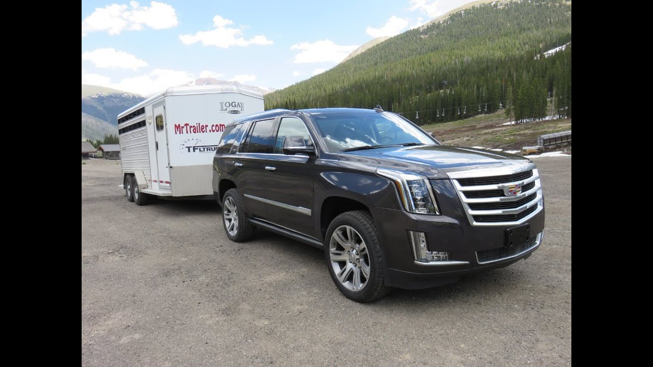 cadillac escalade 2015 review towing trailers in the rockies youtubecadillac escalade 2015 review towing trailers in [ 1280 x 720 Pixel ]
