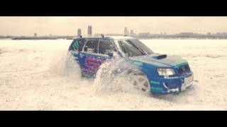 Subaru STI drifting in snow [HD]
