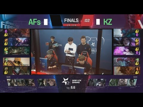 AFS (Kramer Jhin) VS KZ (Pray Kai'sa) Game 3 Highlights - 2018 LCK Spring Finals