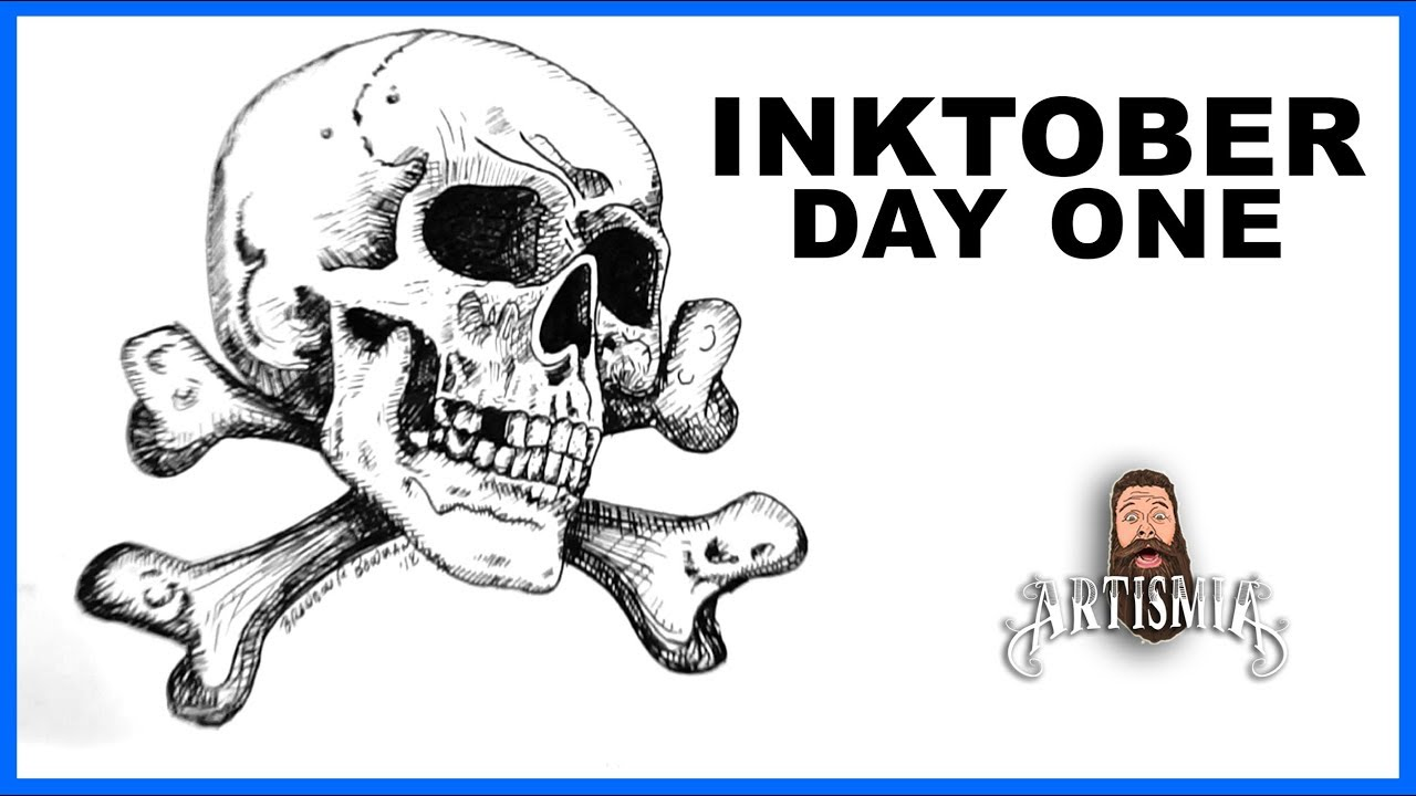 Drawing Skull Crossbones Inktober Poisonous Artismia Youtube