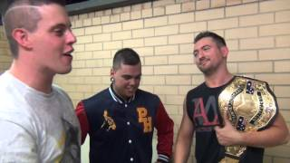 aaw road to anniversary 2016 recap includes backstage interviews promos and match highlights