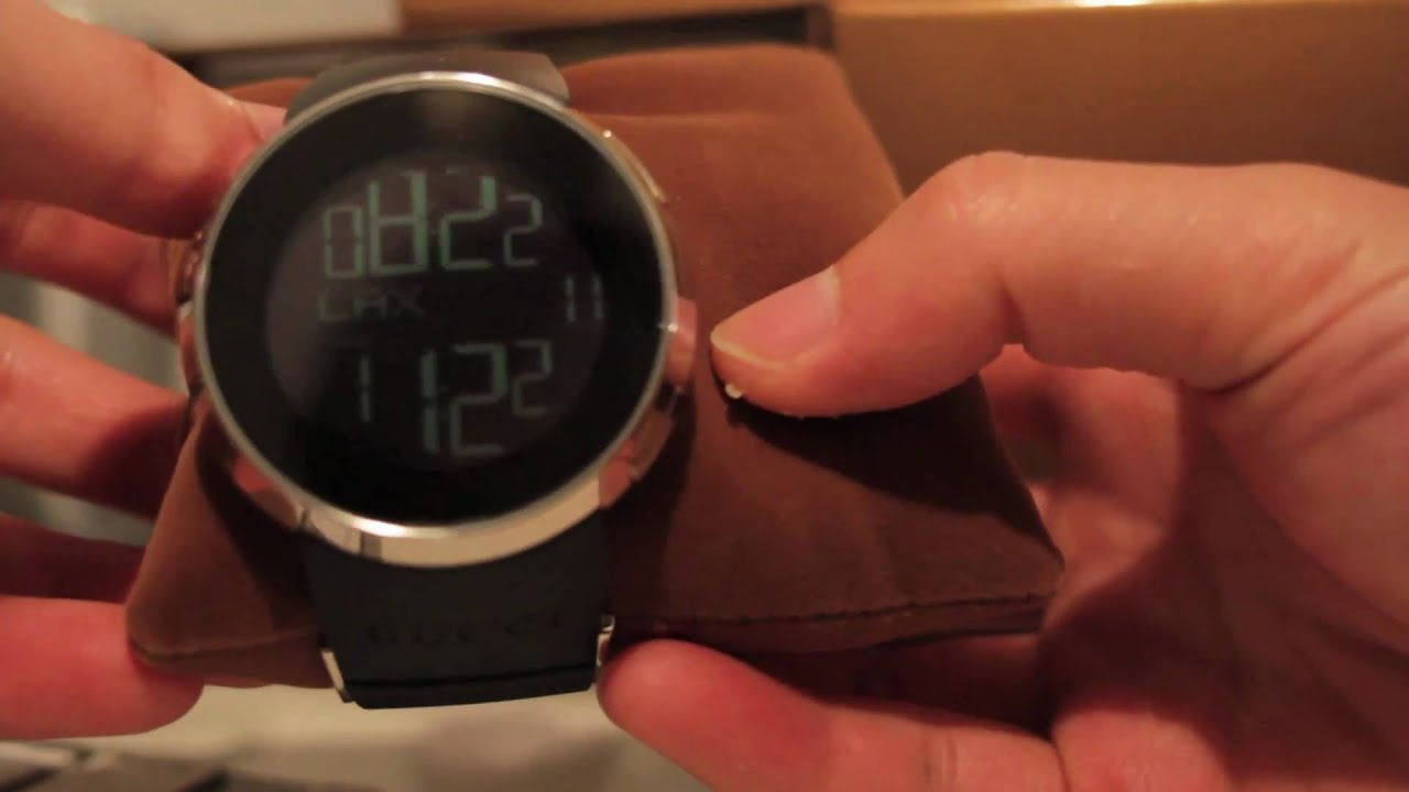 authentic i gucci digital watch review gucci digital watch igucci rh youtube com Smael Watch User Manual Sanda 289 Watch Instruction Manual