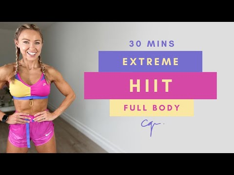 30 Min EXTREME FULL BODY HIIT WORKOUT at Home | Low Impact