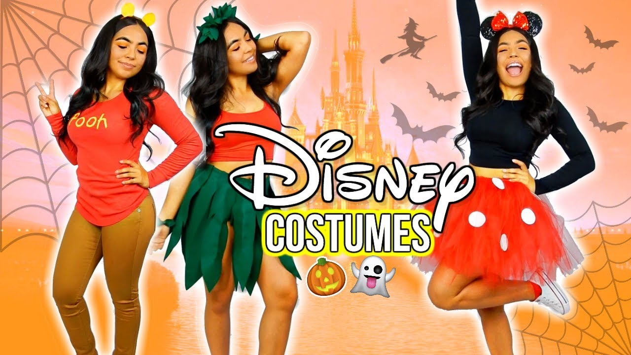 Diy Disney Halloween Costumes 2017 Pooh Minnie Lilo Youtube