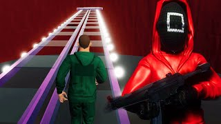 CROSSING THE GLASS BRIDGE IN THE SQUID GAME IS TERRIFYING. - SQUID GAME Horror Game