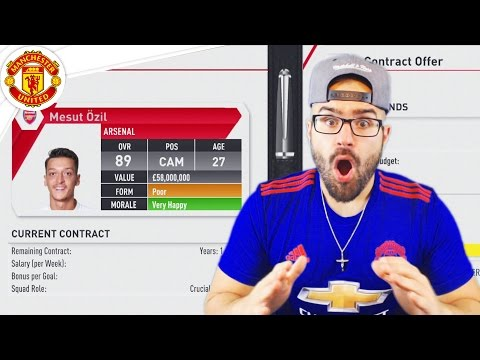 OZIL ACCEPTS MANCHESTER UNITED!  FIFA 17 Career Mode #04
