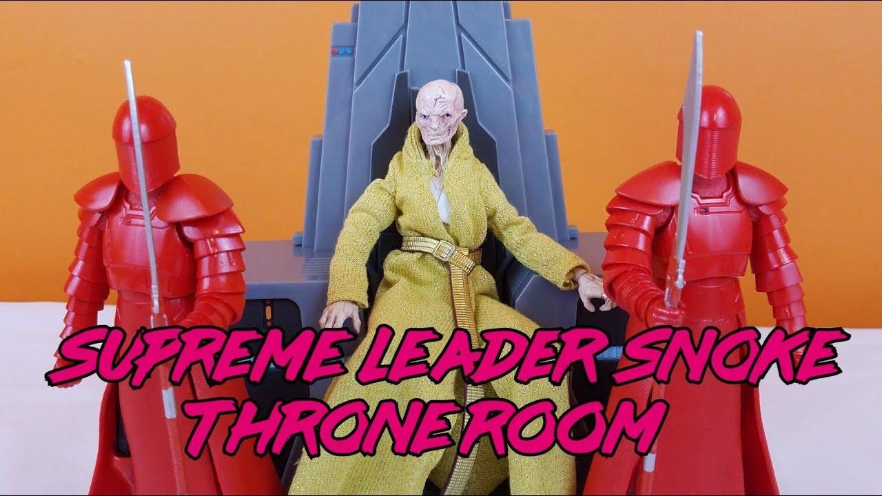 Star Wars Black Series Supreme Leader Snoke Exclusive 6 Action Throne Room