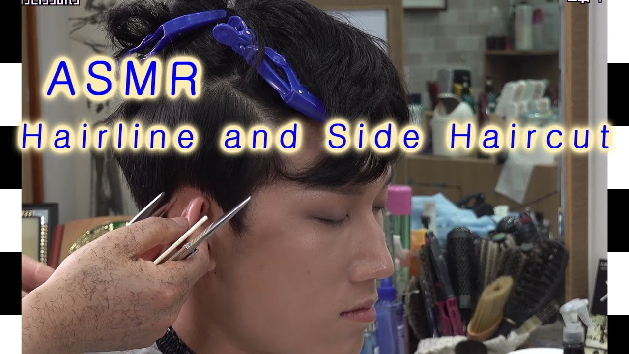 Best ASMR  Men Hairline Haircut