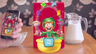 Lucky Charms box turns into a quest game via Blippar