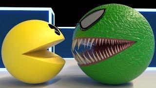 Pacman Vs Green Pacman Spider (Remake)