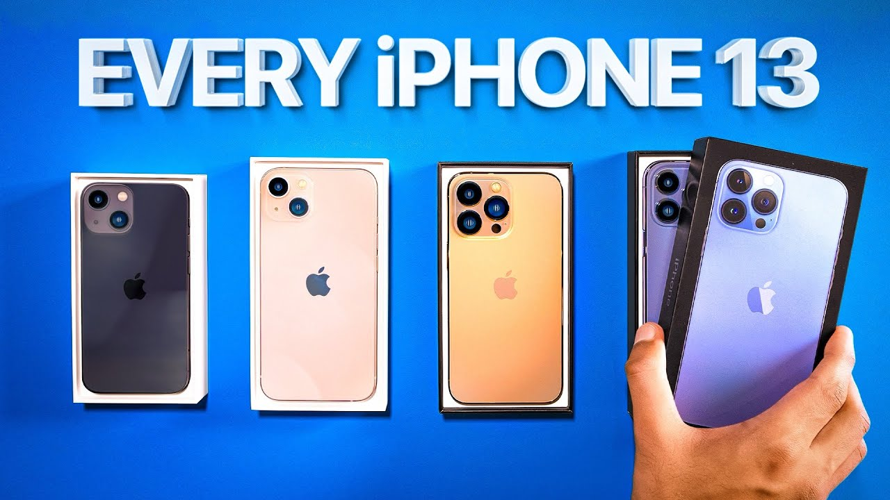 Download iPhone 13 - UNBOXING ALL OF THEM.