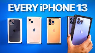 iPhone 13 - UNBOXING ALL OF THEM