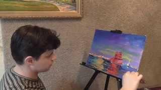 Живопись маслом. Необычная техника живописи.