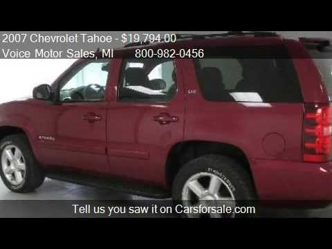 2007 chevrolet tahoe ltz 4x4 for sale in kalkaska mi for Voice motors kalkaska michigan