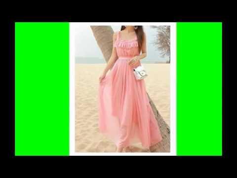 aad1c130f226b موديلات فساتين شيفون سهرة - YouTube