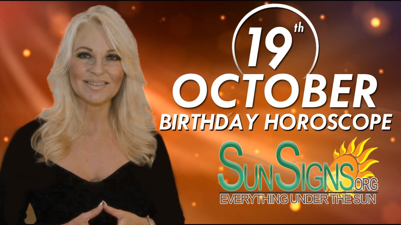 october 19 born horoscope